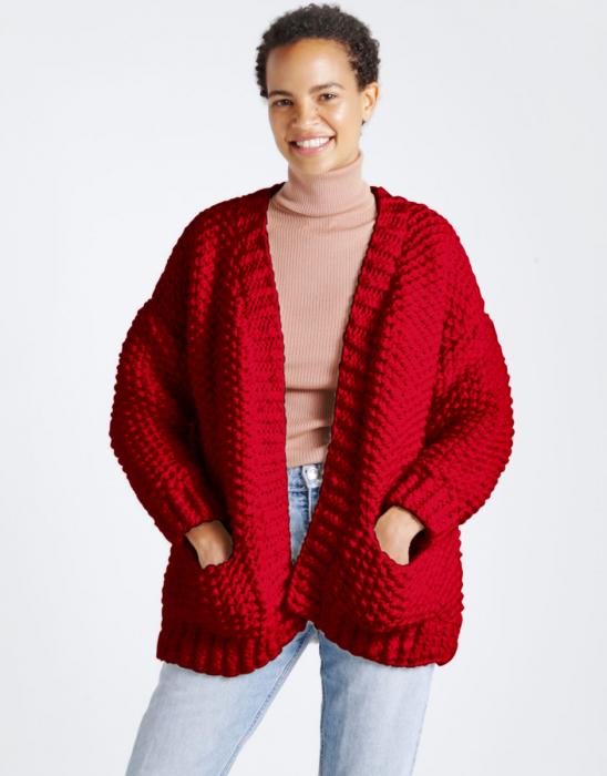 Kit tricotat cardigan Live Forever [0]