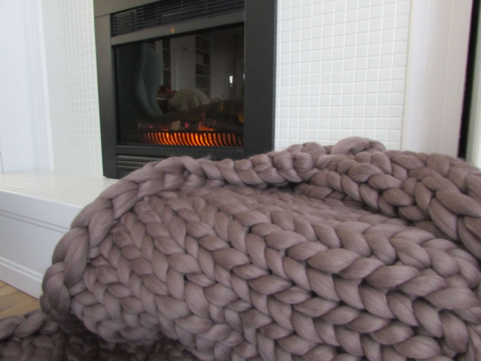 Patura fire gigant lana Merino 120x120 cm [1]