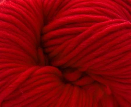 Fire super chunky lana Merino Scarlet1