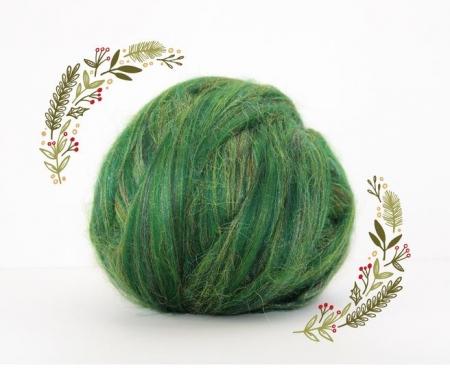 Fire Gigant lana Merino Christmas Blend Green0