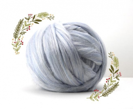 Fir gigant lana merino Christmas Blend Snow0