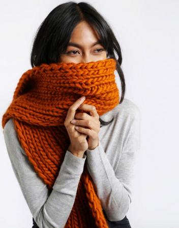 Kit tricotat fular Whistler Scarf [1]