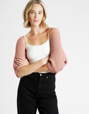 Kit tricotat sal cu maneci Riri10