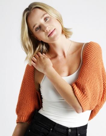 Kit tricotat sal cu maneci Riri6
