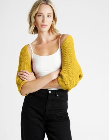 Kit tricotat sal cu maneci Riri9