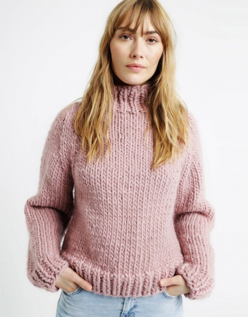 Kit tricotat pulover Eden Jumper0