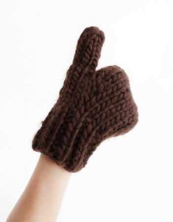 Kit tricotat manusi Fight the power [3]