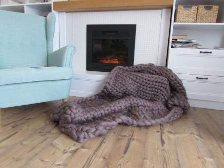 Patura fire gigant lana Merino 120x120 cm [0]
