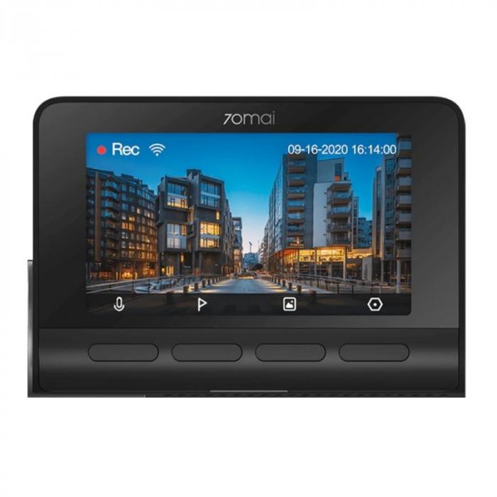 Camera auto DVR Xiaomi 70MAI A800S, 4K,Sony IMX415, Filmare 140°, Super Night Vision, ADAS, GPS, Monitorizare parcare, Slot memorie, 500mAh 1