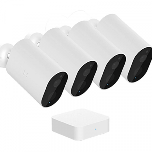 Pachet 4 camere de supraveghere wireless Xiaomi IMILAB EC2 cu Gateway Alb 0