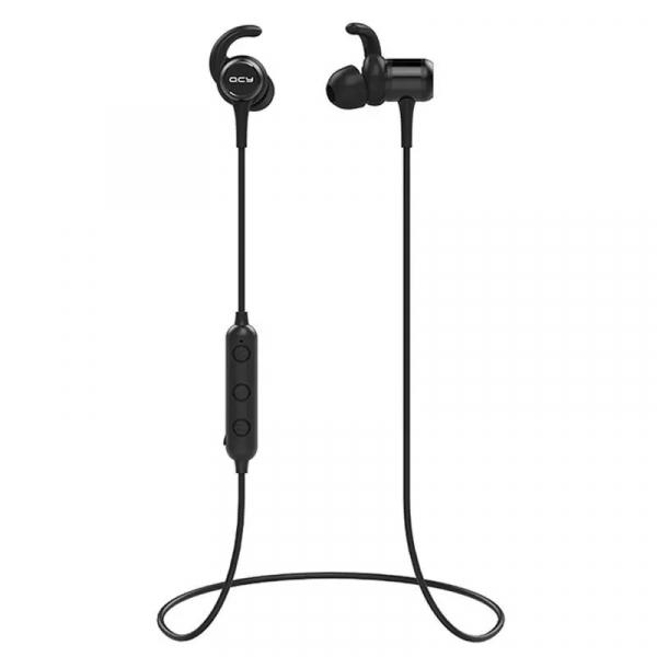 Casti bluetooth in-ear QCY M1c cu guler, 32Ω, Microfon, Control pe fir, Magnetice, Bluetooth v5.0, 90mAh, Negru 3
