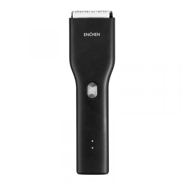 Aparat de tuns Xiaomi Enchen Boost Hair Clipper cu lama nano-ceramica, 2 viteze, Incarcare rapida prin USB Type-C, Global, Negru [1]