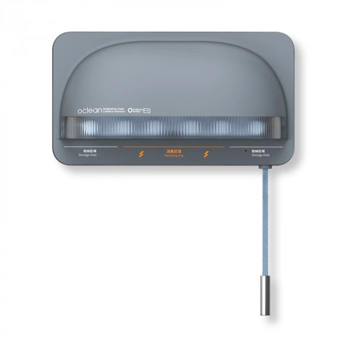 Sterilizator smart UVC LED Xiaomi Oclean S1 Gri cu 5 suporturi pentru periute de dinti si lame de barbierit 0
