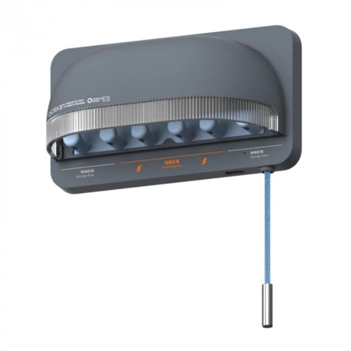Sterilizator smart UVC LED Xiaomi Oclean S1 Gri cu 5 suporturi pentru periute de dinti si lame de barbierit 1