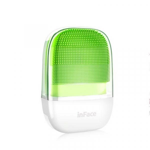 Perie electrica de masaj si curatare faciala Xiaomi inFace Sonic MS2000-1 Verde, 3 zone de curatare, 3 trepte de viteza, IPX7 1