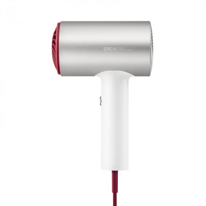 Uscator de par Xiaomi Soocas H5 Silver, 1800W, 20000rpm, Anionic, Aliaj aluminiu, Izolare a duzei de aer 1