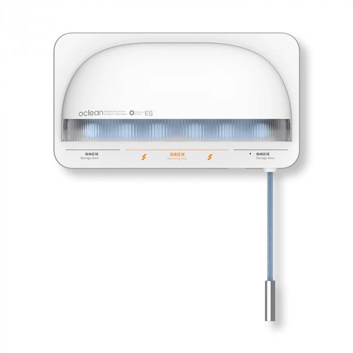 Sterilizator smart UVC LED Xiaomi Oclean S1 Alb cu 5 suporturi pentru periute de dinti si lame de barbierit [0]