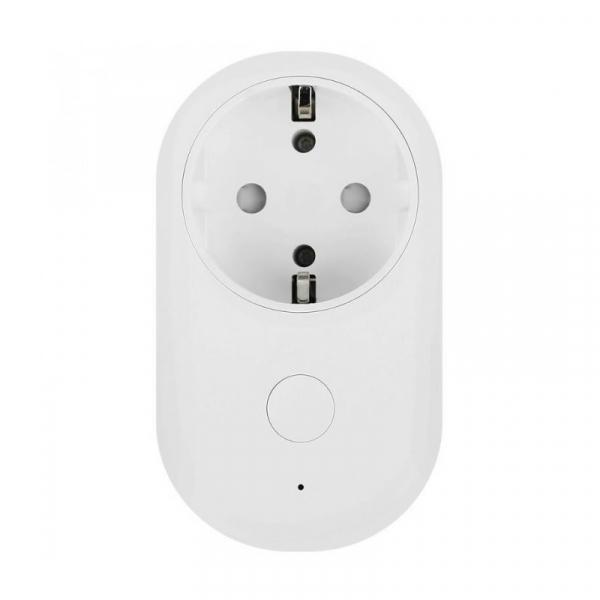 Priza WiFi smart Xiaomi Mi Smart Power Plug Alb, 16A, 3680W, Control vocal, Compatibilitate Android si iOS, Global [0]