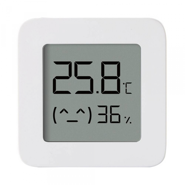"Termohigrometru wireless Xiaomi Mi Temperature and Humidity Monitor 2, LCD 1.5"", Bluetooth v4.2, CR2032, Alb 0"