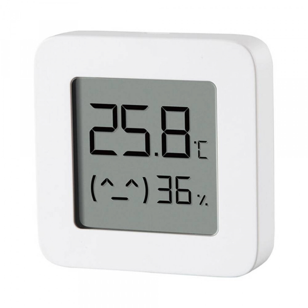 "Termohigrometru wireless Xiaomi Mi Temperature and Humidity Monitor 2, LCD 1.5"", Bluetooth v4.2, CR2032, Alb 2"