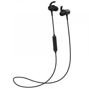 Casti bluetooth in-ear QCY M1c cu guler, 32Ω, Microfon, Control pe fir, Magnetice, Bluetooth v5.0, 90mAh, Negru2