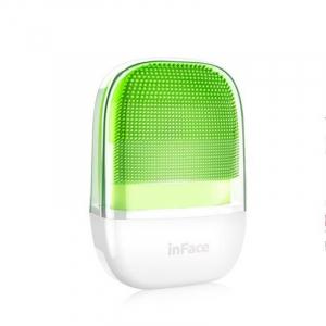 Perie electrica de masaj si curatare faciala Xiaomi inFace Sonic MS2000-1 Verde, 3 zone de curatare, 3 trepte de viteza, IPX71