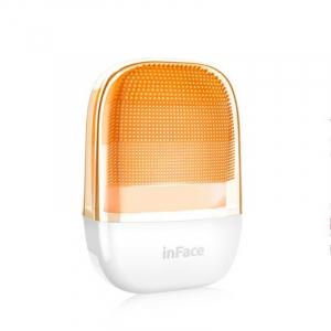 Perie electrica de masaj si curatare faciala Xiaomi inFace Sonic MS2000-1 Orange, 3 zone de curatare, 3 trepte de viteza, IPX7 [1]