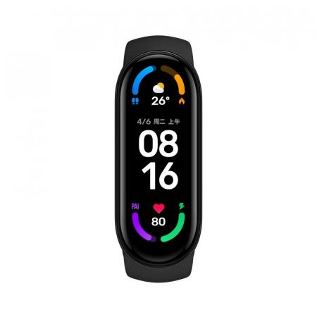 "Smartband Xiaomi Mi Band 6 Negru, AMOLED 1.56"", PAI, Ritm cardiac, Oxigen, Stres, Menstruatie, Inot, 30 moduri sport1"
