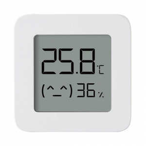 "Termohigrometru wireless Xiaomi Mi Temperature and Humidity Monitor 2, LCD 1.5"", Bluetooth v4.2, CR2032, Alb0"