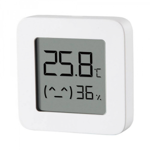 "Termohigrometru wireless Xiaomi Mi Temperature and Humidity Monitor 2, LCD 1.5"", Bluetooth v4.2, CR2032, Alb2"