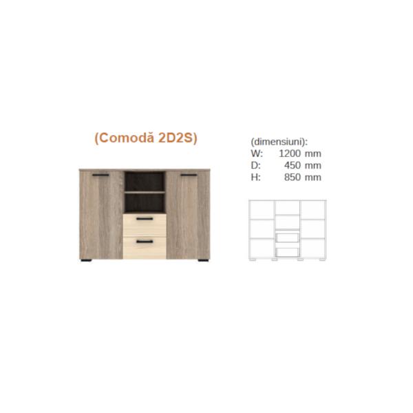Comoda TV Mishell 1.2 m 1