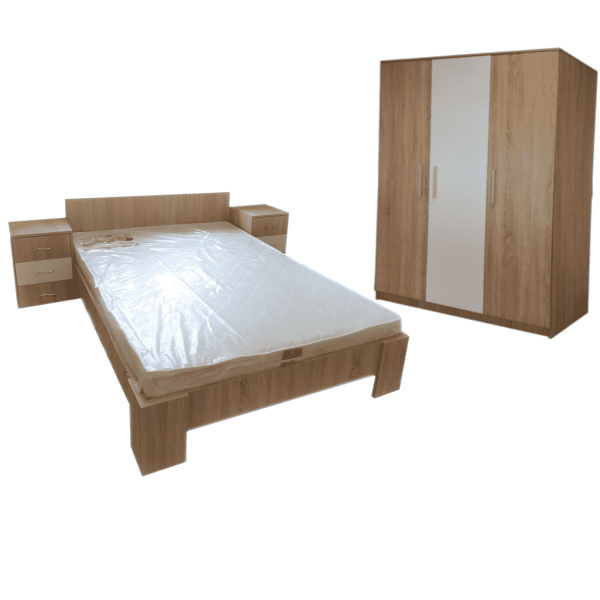 Set Dormitor Star SonomaAlb 0