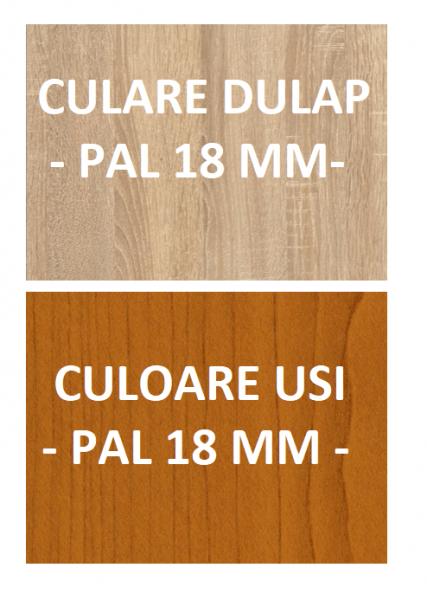 Dulap Sonoma cu 2 Usi Cires si 4 Polite de Depozitare, 200X80x40 cm, Pal 18mm si Cant ABS 3