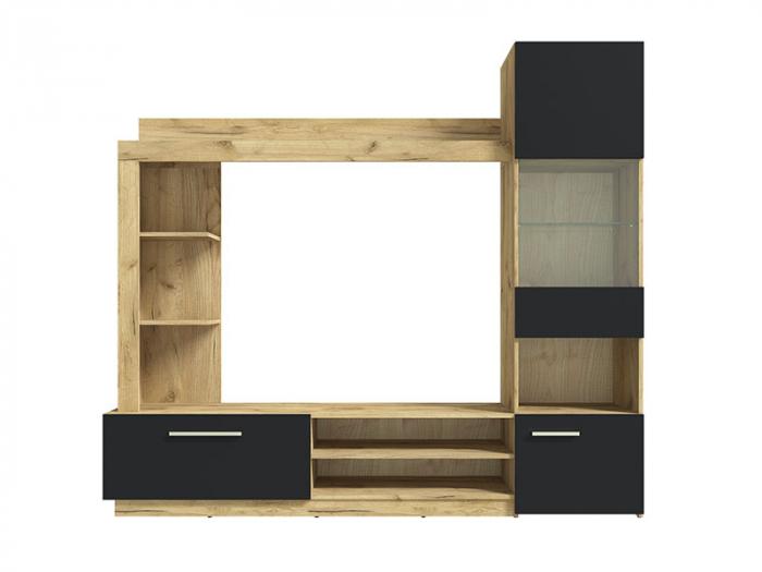 Living Rino 2 M ,culoare Negru & Stejar craft [1]