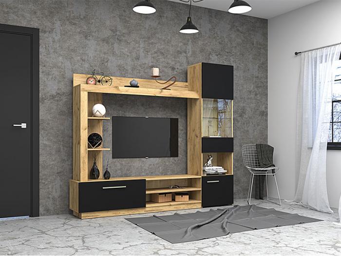 Living Rino 2 M ,culoare Negru & Stejar craft [0]