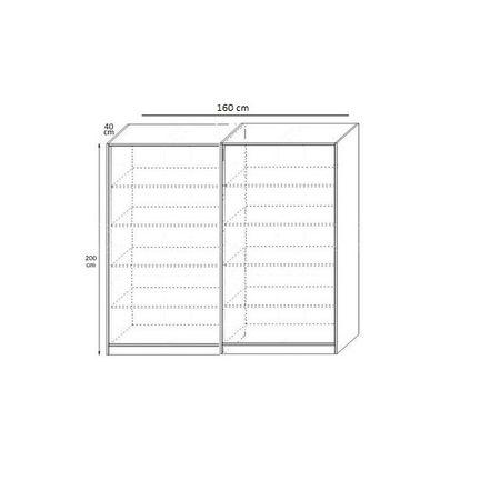 Dulap Sonoma cu 4 Usi si Polite de Depozitare 200X160x40 cm, Pal 18mm si Cant ABS [2]