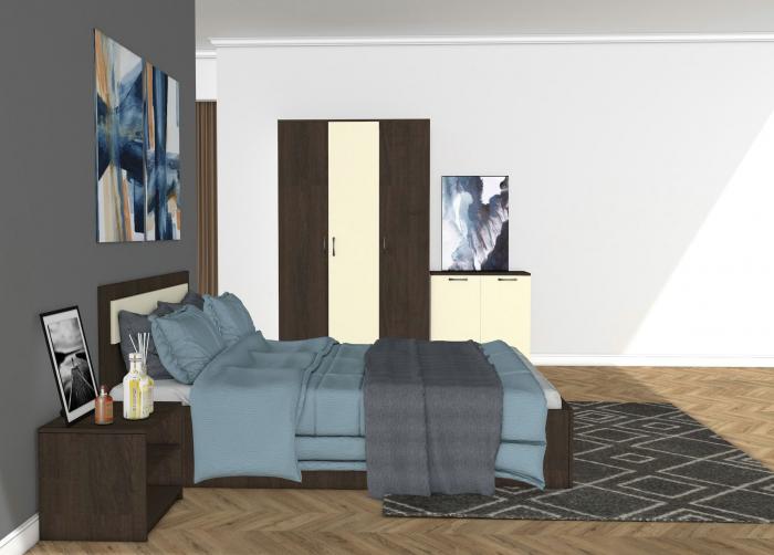 Set Dormitor MARIO Wenge - CREM 1
