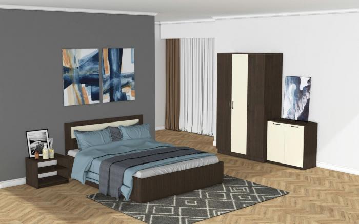 Set Dormitor MARIO Wenge - CREM 0