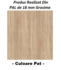 Pat Sonoma cu Model pe Tablie Mesteacan din Pal 18mm, 3 Dimensiuni [1]