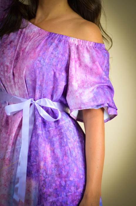 Rochie lunga cu imprimeu cu flori multicolore [3]