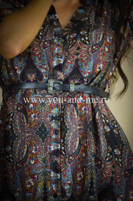Rochie cu guler tunica si curea [2]