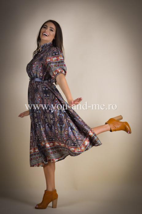 Rochie cu guler tunica si curea [3]