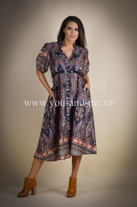 Rochie cu guler tunica si curea [6]