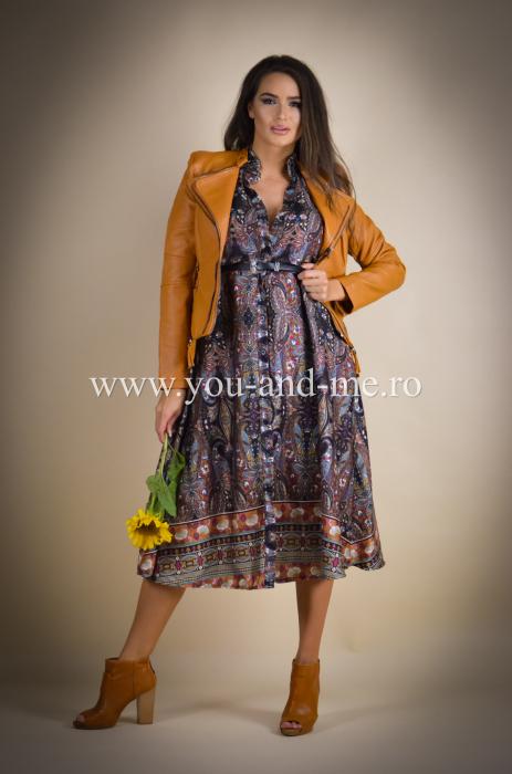 Rochie cu guler tunica si curea [7]