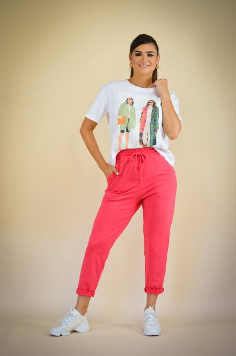 Bluza dama cu imprimeu colorat din bumbac [0]
