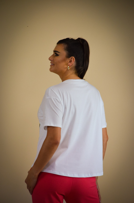 Bluza dama cu imprimeu colorat din bumbac [4]