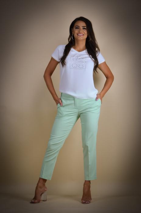Pantaloni dama eleganti vernil [0]