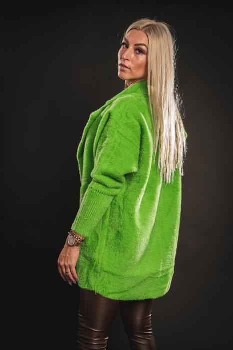 Jacheta verde din lana cu buzunare [3]
