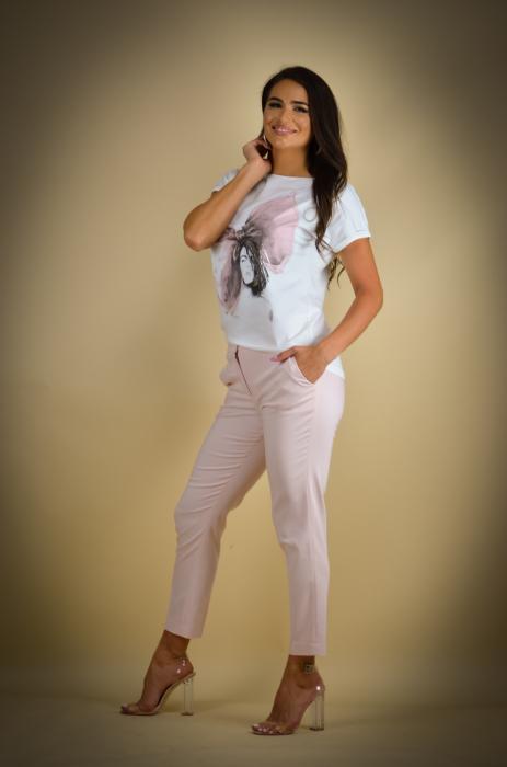 Pantaloni dama  eleganti roz [2]