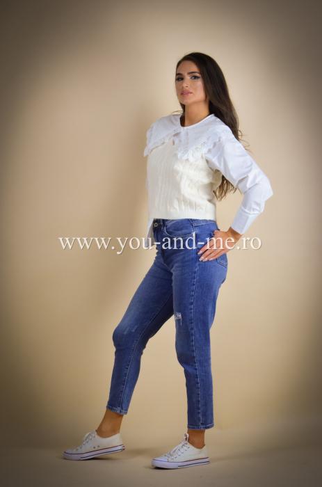 Pantaloni din jeans cu talie inalta [1]